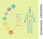 human body with chakra.... | Shutterstock . vector #230510461
