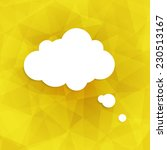speech bubble icon on yellow... | Shutterstock .eps vector #230513167