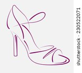 elegant sketched woman's shoe...