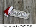 Wood Welcome Sign With...