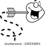 a cartoon heart shaped arrow... | Shutterstock .eps vector #230533891