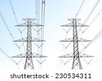 high voltage post.high voltage... | Shutterstock . vector #230534311
