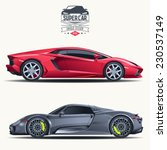 super car design concept.... | Shutterstock .eps vector #230537149