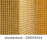 golden mosaic interior | Shutterstock . vector #230555314