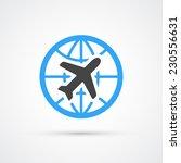 trendy airplane travel flight... | Shutterstock .eps vector #230556631