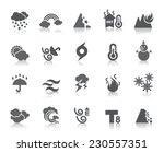 weather icons | Shutterstock .eps vector #230557351