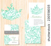 wedding invitation cards with... | Shutterstock .eps vector #230558035