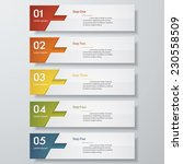 design clean number banners... | Shutterstock .eps vector #230558509