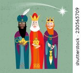 three kings. three wise men... | Shutterstock .eps vector #230565709