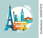 travel europe illustrations | Shutterstock .eps vector #230567575