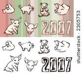 pigs | Shutterstock .eps vector #2305753