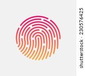 id app icon. fingerprint vector ... | Shutterstock .eps vector #230576425