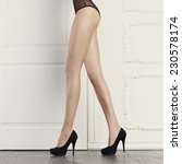 perfect female legs in... | Shutterstock . vector #230578174
