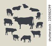 cows   Shutterstock .eps vector #230582299