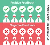 people give rating to feedback. ... | Shutterstock .eps vector #230585029