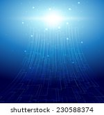 virtual abstract digital... | Shutterstock . vector #230588374