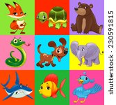 set of animals with background. ... | Shutterstock .eps vector #230591815