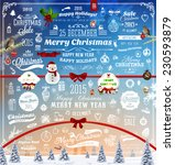 hand drawn christmas and new... | Shutterstock .eps vector #230593879