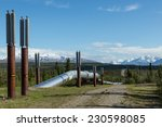 the trans alaska pipeline | Shutterstock . vector #230598085