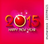 happy new year 2015 creative... | Shutterstock .eps vector #230598121
