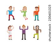 collection of different pixel... | Shutterstock .eps vector #230601325