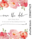 calligraphy vector save the... | Shutterstock .eps vector #230607625