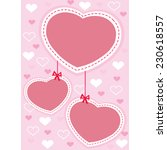 valentine card design with pink ... | Shutterstock .eps vector #230618557
