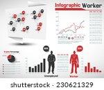 infographic worker modern style ... | Shutterstock .eps vector #230621329