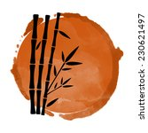 watercolor coffee circle paint... | Shutterstock .eps vector #230621497