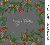 merry christmas and happy new... | Shutterstock .eps vector #230624977