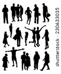people silhouettes set | Shutterstock .eps vector #230633035