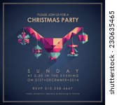 christmas party invitation card. | Shutterstock .eps vector #230635465