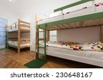Stock photo hostel interior bedroom 230648167