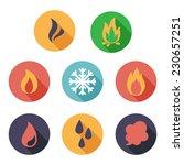 vector illustration fire ... | Shutterstock .eps vector #230657251