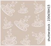tea time background  ornamental ... | Shutterstock .eps vector #230658415