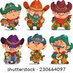 cartoon  cowboy.                ... | Shutterstock .eps vector #230664097