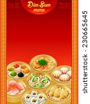 template for chinese dim sum... | Shutterstock .eps vector #230665645