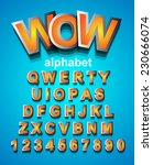 funny colorful alphapet font to ...   Shutterstock .eps vector #230666074