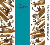 spices drawing by watercolor ... | Shutterstock .eps vector #230676787