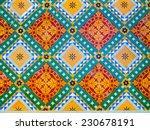colorful floor decoration... | Shutterstock . vector #230678191