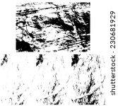 grunge textures set  vector...   Shutterstock .eps vector #230681929