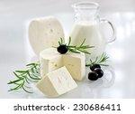 paneer cheese on white... | Shutterstock . vector #230686411