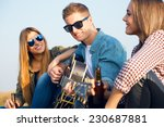 outdoor portrait of group of... | Shutterstock . vector #230687881