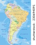 south america   highly detailed ... | Shutterstock .eps vector #230694091