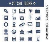25 seo icons | Shutterstock .eps vector #230697577