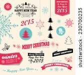 vector christmas and new year... | Shutterstock .eps vector #230700235
