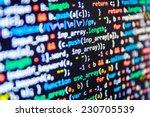 programming code abstract... | Shutterstock . vector #230705539
