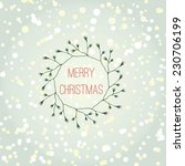 christmas card with elements... | Shutterstock .eps vector #230706199