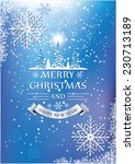 blue christmas and new year... | Shutterstock .eps vector #230713189