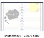 paper notebook | Shutterstock .eps vector #230715589
